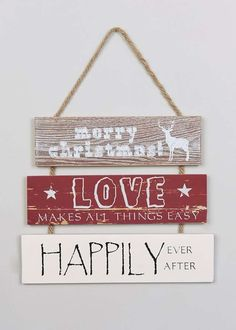 Christmas 3 Tier Hanging Sign (37cm x 31cm)