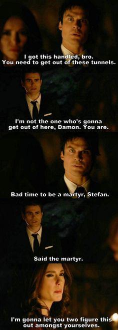 The Vampire Diaries TVD S08E16/Season finale - Damon, Stefan and Katherine