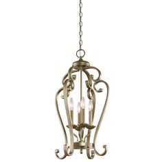 Monroe 4 Light Foyer Pendant - Sterling Gold SGD