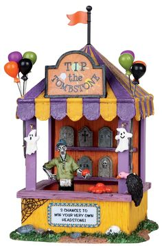 """Lemax: Spooky Town - """"Tip The Tombstone"""" - #03823 - Intro 2010"""