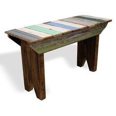 Small bench made from reclaimed wood from old houses. FREE SHIPPING!  Allow 3-4 weeks for delivery.