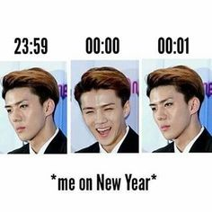 He really captured the essence of new year!!