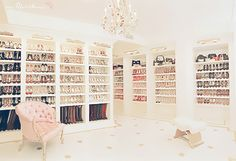 A closet for shoes and handbags.  Dreamy!