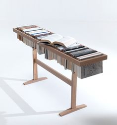 Table-bookcase