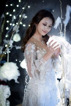 Snow Maiden bride in Paolo Sebastian wedding gown from the couture bridal designer's Nightingale collection // Winter's Night Wedding Inspiration with 3 Paolo Sebastian Gowns {Facebook and Instagram: The Wedding Scoop}