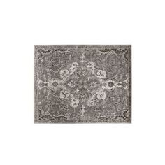 Pottery Barn Nolan Persian Rug, 2.5 x 9', Gray ($349) ❤ liked on Polyvore featuring home, rugs, pottery barn area rugs, leaf rug, persian style rugs, pottery barn rugs and flower rug