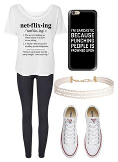 """""""Netflix Friday"""" by fangirlmendes on Polyvore featuring Casetify, Converse and Humble Chic"""