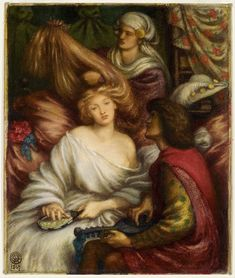 Morning Music. 1867. Dante Gabriel Rossetti Dante Gabriel Rossetti, Birmingham Art Gallery, Birmingham Museum Of Art, John Everett Millais, Museum Art Gallery, Art Museum, William Morris, Pre Raphaelite Paintings, Morning Music