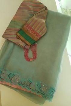 Pink Saree Silk, Organza Saree, Soft Silk Sarees, Cotton Saree Blouse Designs, Saree Blouse Patterns, Fancy Blouse Designs, Trendy Sarees, Stylish Sarees, Fancy Sarees