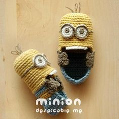 Crocheting: Minion Despicable Me Baby Shoe Pattern