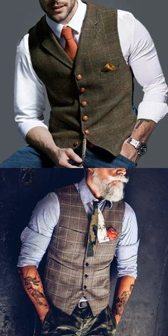 Formal Single-breasted Printed Color Men Vest - Men's clothes,stylish men's vest , trendy style & exquisite workmanship, perfect for your gentl - Mens Fashion Suits, Mens Suits, Fashion Vest, Golf Fashion, Trendy Fashion, Fashion Outfits, Designer Suits For Men, Stylish Mens Outfits, Herren Outfit