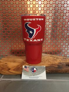 Houston Texans yeti tumbler, cup, NFL cups, football yeti, dipped yeti, Christmas gifts for him and her, rtic, cups