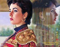 portrait of Liz Taylor by May Fong Robinson on Deviant Art:  mayfong.deviantart.com