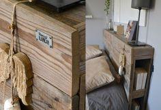 Tete de on pinterest beds headboards and head bed - Tete de lit avec etagere ...