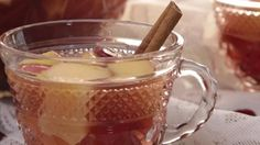 A spiced cranberry-apple wine punch makes a festive drink to toast the winter holidays. Chill the sangria for a day or so to blend the flavors.