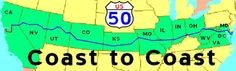 COAST to COAST on US 50. A Journey Across America on Route 50,   also known as Highway 50.   Travel by car from the Atlantic to the Pacific.