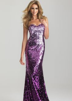 Sparkly Sequin Purple Ombre Gown - Night Moves Prom Dresses 6627 - thepromdresses.com