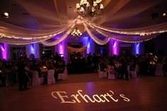 Reception, Purple, Custom, Gobo, Uplights