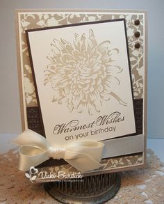 It's a Stamp Thing: Warm Birthday Wishes. Stampin Up: Blooming With Kindness Hand Made Greeting Cards, Making Greeting Cards, Greeting Cards Handmade, Making Cards, Scrapbooking, Scrapbook Cards, Handmade Birthday Cards, Sympathy Cards, Flower Cards