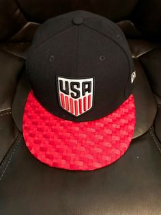 0c04e0b1dec New Era 59fifty USA Soccer Original Fit Snapback Hat Blue White Red 7 3 8   fashion  clothing  shoes  accessories  mensaccessories  hats (ebay link)