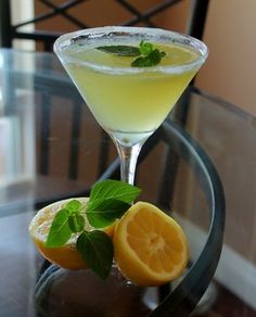 The refreshing lemon basil martini