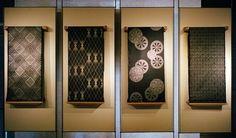 mud-dyed Japanese silk kimono fabric