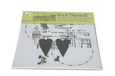 Heathers - Inspiration    Gorgeous stencils for Mixed Media projects in the shop.
