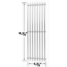 BBQ Stainless Steel Replacement Cooking Grid for Char-Griller Gas Grill Models Like Also Fits Compatible With King Griller Dimensions x Each, Material SOLID ROD Stainless Steel Grates, Compatible Part Numbers