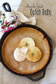 Apple Jack Dutch Baby | ASpicyPerspective.com #apple #dutchbaby #breakfast