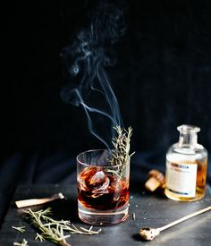Whip up a Sleepy Hollow Cocktail for Halloween.