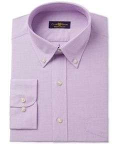 Club Room Men's Classic/Regular Fit Lavender Spread Dress Shirt, Only at Macy's - Purple 16.5 32/33