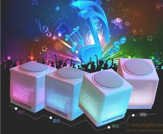 Moonlight appearance, built in bright marquees Crack striped small speakers  gift