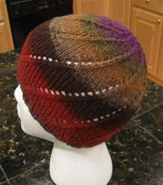 Free knitting pattern for Noro One Skein  Spiral Hat - Designed by Manuèle…