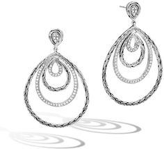 John Hardy Classic Chain Graduating Hoop Earrings w/ Diamonds John Hardy Jewelry, Diamond Earrings, Hoop Earrings, Fine Jewelry, Jewelry Making, Sterling Silver Necklaces, Handmade Jewelry, Jewelry Design, Pendant Necklace