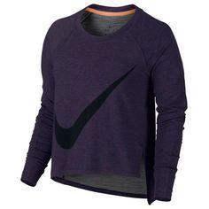 CALIDEZ DURANTE LOS ENTRENAMIENTOS La camiseta de entrenamiento de manga larga Nike Sphere-Dry para mujer mejora la silueta con una mayor cobertura, mangas raglán y una abertura lateral asimétrica para que puedas combinarla a la perfección con otras camisetas de entrenamiento.  VENTAJAS >> Tejido Nike Sphere-Dry para ayudarte a mantenerte cálida y seca >> Suave tejido de algodón para una mayor suavidad y comodidad >> Ajuste holgado con aberturas laterales asimétricas para un...