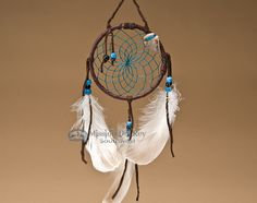 "Native American Dream Catcher 4"" -Turquoise (6-47) - Mission Del Rey Southwest"