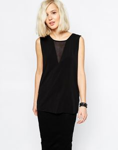 Selected Top with Mesh Insert