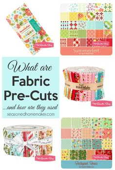 Fabric pre-cuts make sewing quilts and other crafts a snap. I am taking the mystery out of pre-cut fabric sets and giving you tons of ways to use them.