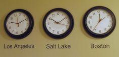 time zone clocks, diy