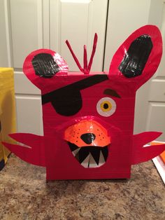 Foxy from Five Nights at Freddy's Valentine box for my oldest son