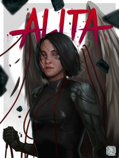 BATTLE ANGEL ALITA Alita Movie, Alita Battle Angel Manga, Female Cyborg, Angel Wallpaper, Mobile Wallpaper, Suspended Animation, Lights Artist, Fanart, Character Wallpaper