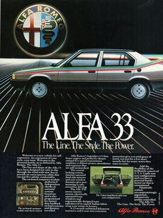 Vintage Advertisements, Vintage Ads, Alfa Alfa, Alfa Romeo Cars, Automotive Industry, Motor Car, Cars And Motorcycles, Boxer, Classic Cars