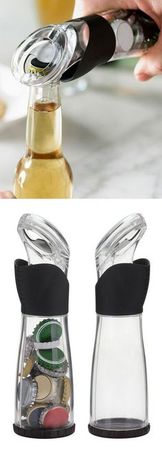 Bottle Opener // Catches & Stores Up To 30 Caps Neatly in the Bottle