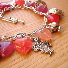 Charm Bracelet  Alice Wonderland Cheshire Cat by sweetpyroangel