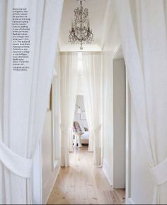 Design Chic - beautiful hallway - love the curtains