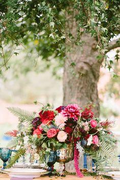 Venue: Venue Chilton - http://www.stylemepretty.com/portfolio/venue-chilton Floral Design: Petals with Style - http://www.stylemepretty.com/portfolio/petals-with-style Event Planning: Laurel & Elm - http://www.stylemepretty.com/portfolio/laurel-and-elm   Read More on SMP: http://www.stylemepretty.com/2015/12/09/touch-of-boho-jewel-toned-wedding-inspiration/