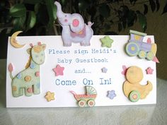 baby shower guest book signs found on