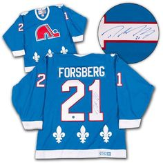 Peter Forsberg Quebec Nordiques Autographed Rookie CCM® Vintage Hockey  Jersey b402450ad