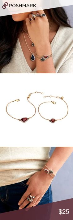 """Lotus TIGER AND ROSE bracelet set Brand new gorgeous TIGER AND ROSE bracelet set. Beautiful stones with antique gold chain add a simple and warm feeling. Perfect for the cold season. About 7.5"""" with 1.5"""" extender.? Lotus by 17L Jewelry Bracelets"""