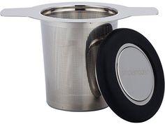 Simple Modern Tea Infuser 304 Stainless Steel Extra-Fine Brew-in-Mug Tea Strainer with Silicone Lined Lid - Best for Single Cup Loose Leaf Tea - Large Size * Read more at the image link.
